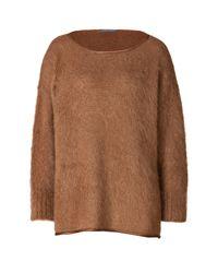 Alberta Ferretti - Brown Oversized Mohair Sweater - Camel - Lyst