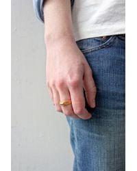 Fraser Hamilton - Metallic Carved Gem Ring Gold - Lyst