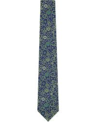 Eton of Sweden | Floral Paisley Silk Tie, Men's, Greens for Men | Lyst