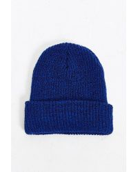 Urban Outfitters - Blue Brushed Beanie for Men - Lyst