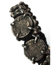 Tobias Wistisen - Black Metal Macrame Bracelet for Men - Lyst