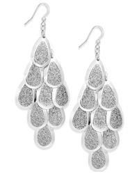 Style & Co. | Metallic Glitter Teardrop Kite Earrings | Lyst