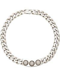 Balenciaga - Metallic Studded Necklace - Lyst
