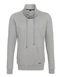 BOSS - Gray 'sweatshirt' | Cotton Cocoon Neck Sweatshirt for Men - Lyst