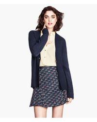 H&M | Blue Jacquard-weave Skirt | Lyst