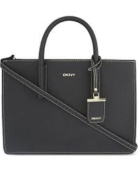 DKNY - Black Bryant Park Saffiano Leather Tote - Lyst