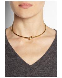 Jennifer Fisher - Metallic Knot Goldplated Choker - Lyst
