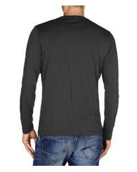 Napapijri | Gray Long Sleeve T-shirt for Men | Lyst