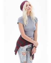 Forever 21 | Gray Mock Neck Tee | Lyst