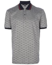 4c48f315c66 Gucci Monogram Polo Shirt in Blue for Men - Lyst