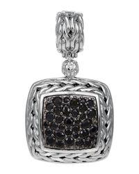 John Hardy | Metallic Classic Chain Medium Pave Black Sapphire Pendant | Lyst