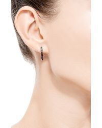 AS29 - Metallic Black Gold Lana Line Earring - Lyst