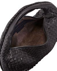 Bottega Veneta   Veneta Large Waves Hobo Bag Black   Lyst