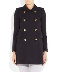 J.Crew - Blue Lattice-weave Cotton-crepe Peacoat - Lyst