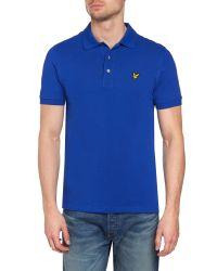 Lyle & Scott - Blue Regular Fit Classic Pique Polo Shirt for Men - Lyst
