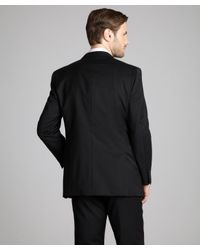 Tommy Hilfiger | Black Wool 'Adams' Two-Button Trim Fit Suit Jacket for Men | Lyst