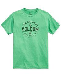 Volcom - Green Schmolly T-Shirt for Men - Lyst