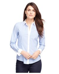 Brooks Brothers | Blue Non-iron Tailored Fit Stripe Dress Shirt | Lyst