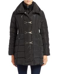 Jessica Simpson | Black Down Toggle Coat | Lyst