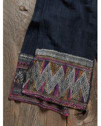 Free People - Black Vintage Embroidered Scarf - Lyst