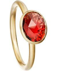 Astley Clarke - Metallic Garnet Oval Stilla 18ct Yellow Gold-plated Ring - For Women - Lyst
