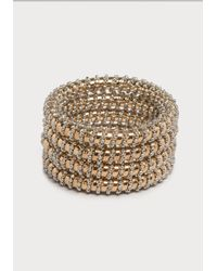 Bebe | Metallic Bead Wrapped Bangle Set | Lyst