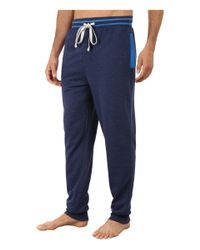Kenneth Cole Reaction | Blue Fleece Back Jersey Cuffed Pants for Men | Lyst