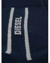 DIESEL | Black Logo Socks for Men | Lyst