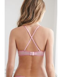 Forever 21 - Pink Pointelle Overlay Wireless Bra - Lyst