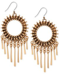 Lucky Brand - Metallic Gold-Tone Circle Statement Earrings - Lyst