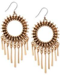 Lucky Brand | Metallic Gold-Tone Circle Statement Earrings | Lyst