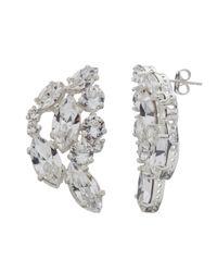 Cabinet | Metallic Silver Sterling Plated Swarovski Crystal Aleta Earrrings | Lyst