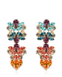 Anton Heunis - Metallic Crystal Cluster Earrings - Lyst