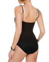 Miraclesuit | Black One-piece Zigzag Color-block Swimsuit | Lyst