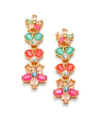 kate spade new york | Multicolor Floral Drop Earrings | Lyst