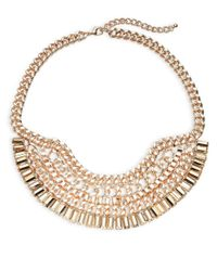 Panacea | Metallic Multi-chain Bib Necklace | Lyst