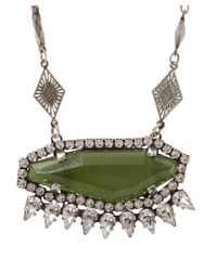DANNIJO | Green Silver-Plated Crystal Honora Necklace | Lyst