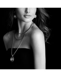 David Yurman | Metallic Cable Coil Pendant With Moon Quartz And Gold | Lyst