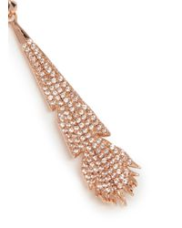Eddie Borgo - Metallic Crystal Pavé Plume Drop Earrings - Lyst