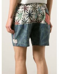 Vans - Blue Mixed Print Bermuda Shorts for Men - Lyst