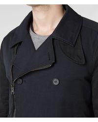 AllSaints   Black Forge Pea Coat for Men   Lyst