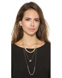 Madewell - Metallic Cirque Layering Necklace - True Black - Lyst