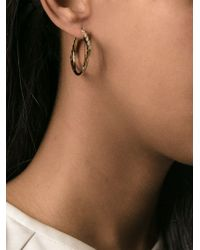 KENZO | Metallic 'eye' Hoop Earrings | Lyst