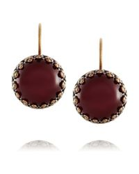 Isabel Marant | Purple Hiro Brass Cabochon Earrings | Lyst