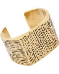 Saint Laurent | Metallic Grunge Cuff Bracelet for Men | Lyst