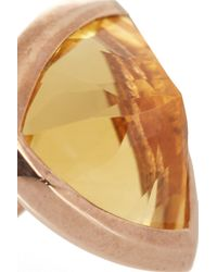 Katie Rowland | Pink Circe Trillion Rose Gold-tone Ring | Lyst