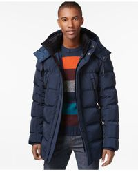 Andrew Marc | Blue Landowne Bomber Puffer Coat for Men | Lyst
