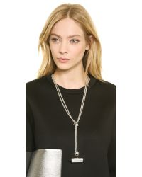 Eddie Borgo - Metallic Pavã© Mini Cone Necklace - Lyst