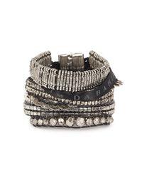 Hipanema | Metallic Silver Tone Embellished Cuff | Lyst