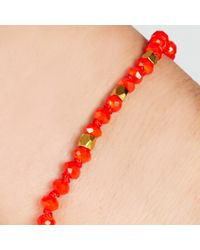 John Lewis | Red Gold Plated Agate Bead Friendship Bracelet | Lyst